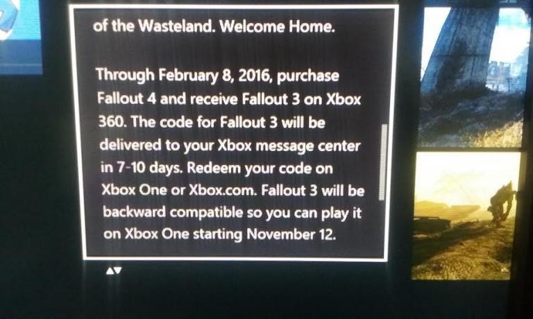 Xbox One : l'offre du Fallout 3 gratuit expire en février 2016