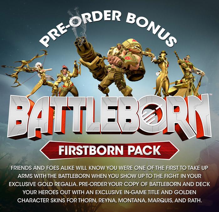 Battleborn : Cinq skins dorés offerts en cas de précommande