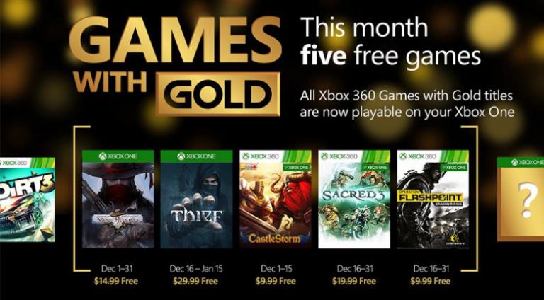 Xbox Gold : Thief, Sacred 3 et trois autres jeux gratuits en décembre