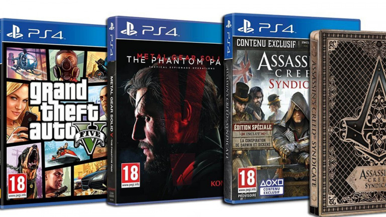 Promo : PS4 500 Go + AC Syndicate + MGS V + GTA V à 389,99 €
