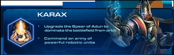 Starcraft 2 Legacy of the Void : Le Commander Karax au rapport