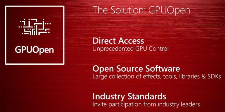 AMD présente GPUOpen, sa plateforme d'aide au développement Open Source