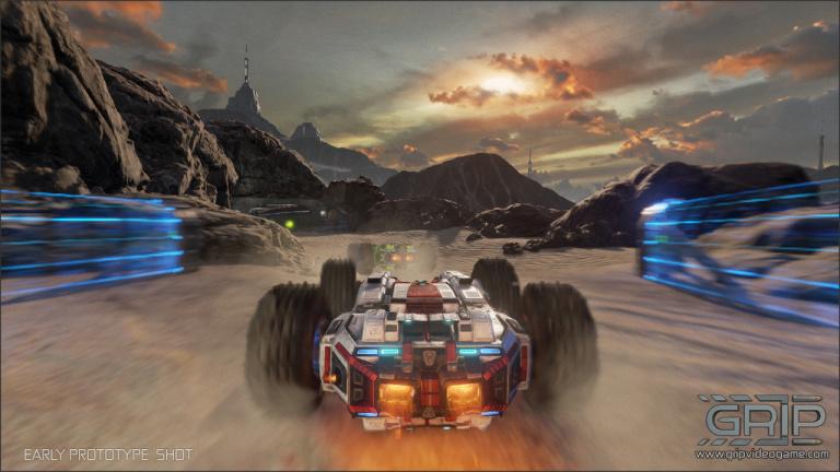 GRIP - Gameplay en haute voltige de ce jeu de course futuriste
