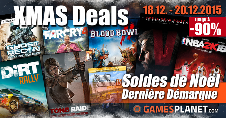 Promo : +100 jeux soldés sur Gamesplanet (MGS V, DmC, Blood Bowl 2...)