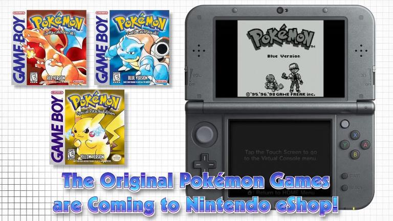 Les premières versions Pokémon pèseront 11Mo