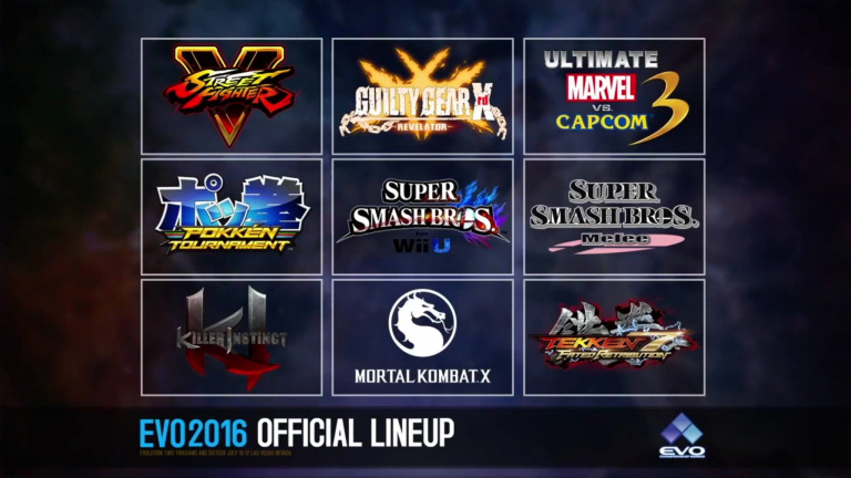 L'EVO 2016 révèle son line-up