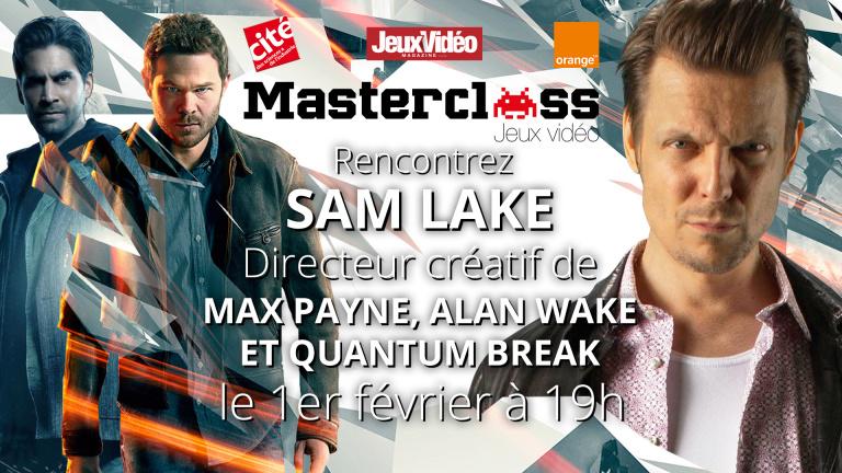 En LIVE : Suivez la Masterclass de Sam Lake, directeur créatif de Quantum Break