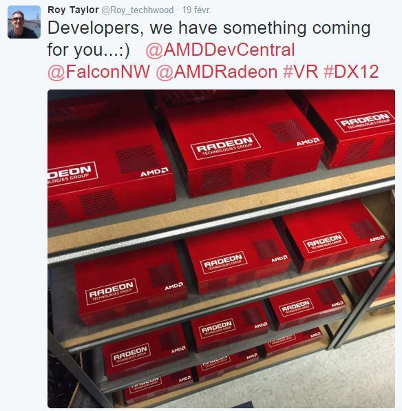 AMD tease un kit de développement bi-GPU ultrapuissant pour la VR de la taille d'une console
