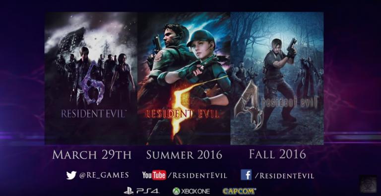 Les Resident Evil 4, 5 et 6 arrivent sur PS4 et Xbox One