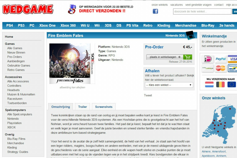 Une date de sortie européenne pour Fire Emblem Fates ?