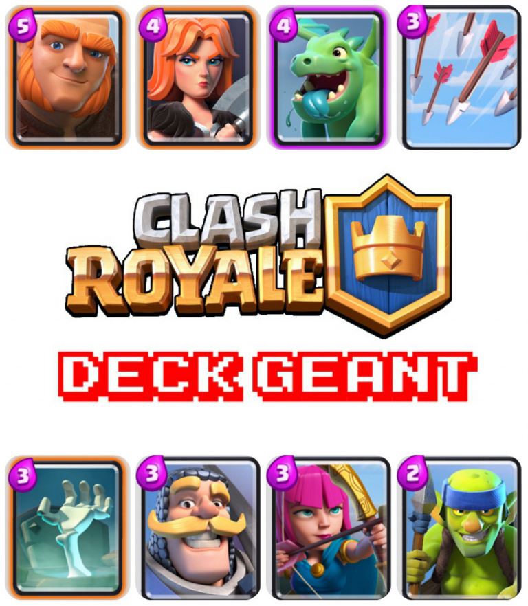 Deck g ant ar ne 2 et astuces et guide clash royale for Deck arene 5 miroir