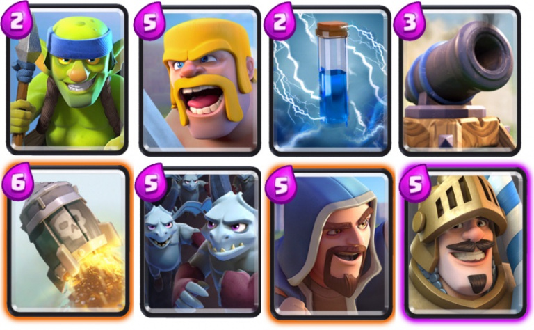 Deck contr le contre ar ne 5 et astuces et guide for Clash royale meilleur deck arene 7