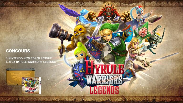 Concours Hyrule Warriors Legends : Jeux et New 3DS Collector à gagner !