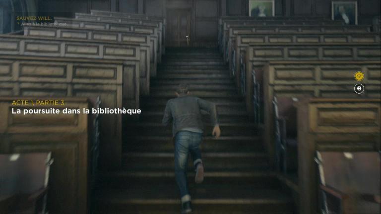 La poursuite dans la bibliothèque