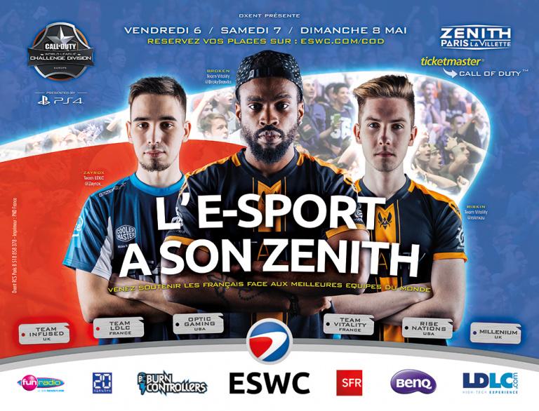 ESWC Call of Duty : Les meilleures équipes s'affronteront au Zénith de Paris