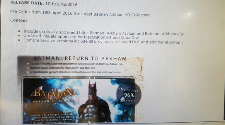Batman Arkham HD Collection : un débarquement imminent révélé via une fuite ?