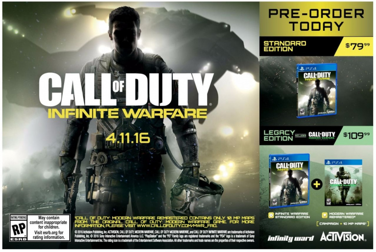 Call of Duty : Infinite Warfare fuite à nouveau