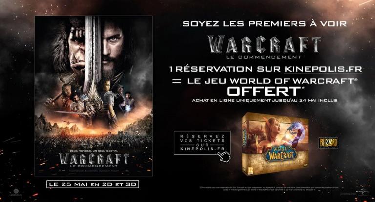 Allez voir Warcraft le film et repartez avec une copie de WoW