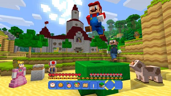 Minecraft Wii U : Mario tape l'incruste