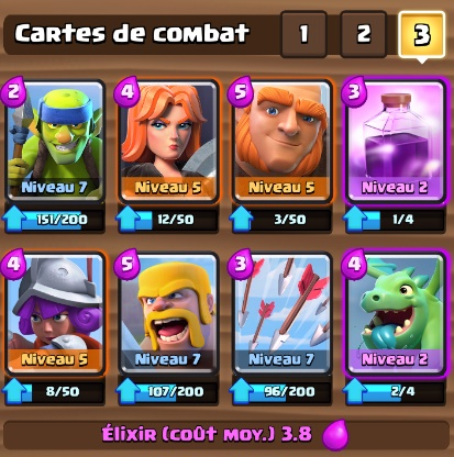 Deck si ge ar ne 2 7 astuces et guide clash royale for Deck arc x arene 7