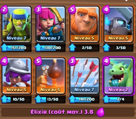 Deck d fensif g ant tour bombes ar ne 2 et for Clash royale meilleur deck arene 7