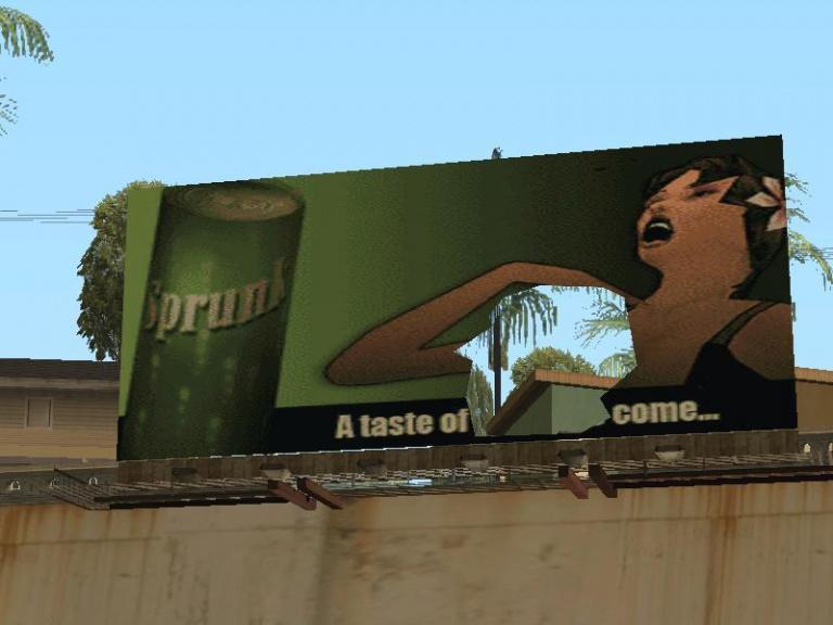 Un panneau publicitaire... jouissif !