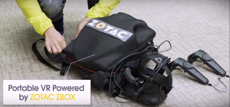 Le Computex fait le plein de sacs à dos VR