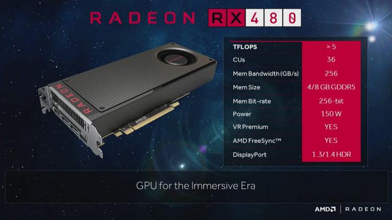 AMD dévoile sa nouvelle carte graphique, la RX 480, à un prix canon