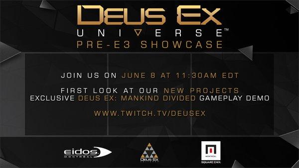 Deus Ex : Des projets spin-off annoncés avant l'E3 2016