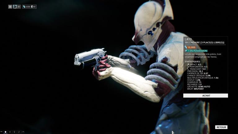 Arme de poing Lato
