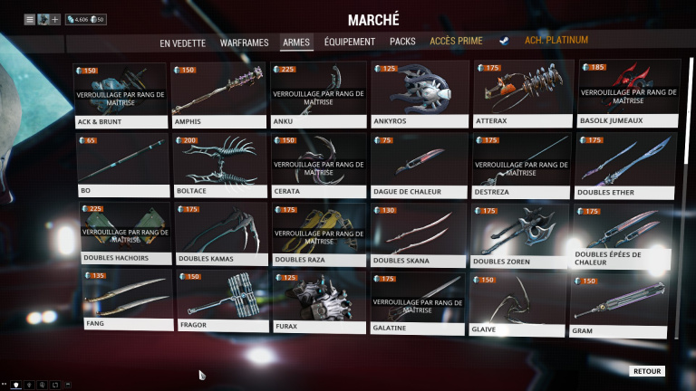 Armes de mêlée
