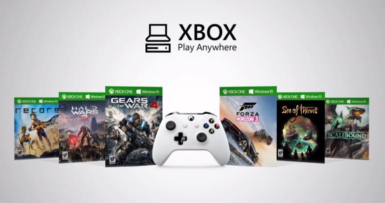 Le Xbox Play Anywhere ne concernera pas tous les jeux Microsoft