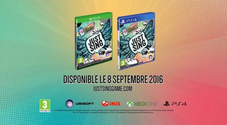 Ubisoft annonce Just Sing sur PS4 et Xbox One
