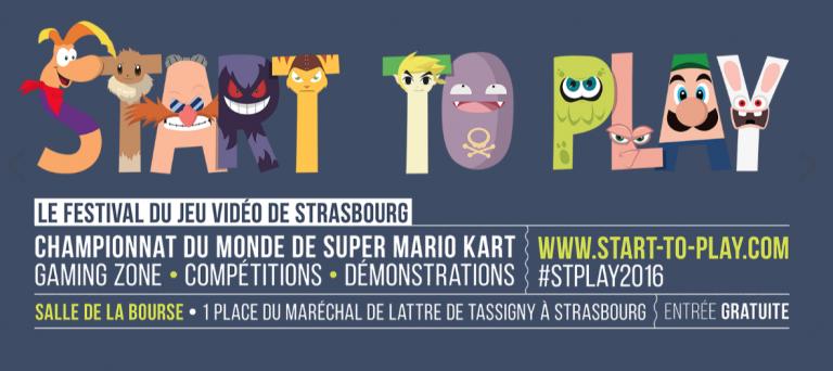 Start To Play 2016 : Le Festival du jeu vidéo de Strasbourg du 24 au 28 août 2016