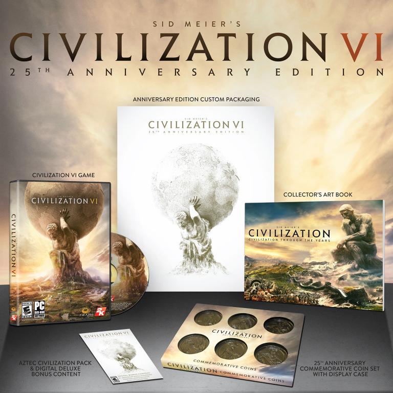 Civilization VI : Une édition pour célébrer les 25 ans de la saga