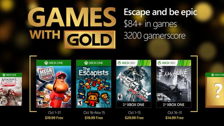 Xbox Live Gold : découvrez les jeux gratuits du mois d'octobre