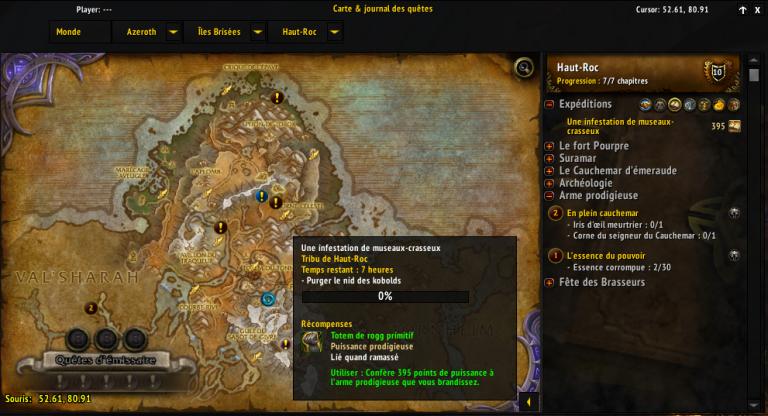 Expéditions, Suramar, donjons et raids...