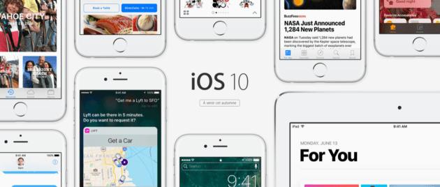 iOS 10 déjà présent dans près de 70% des terminaux Apple