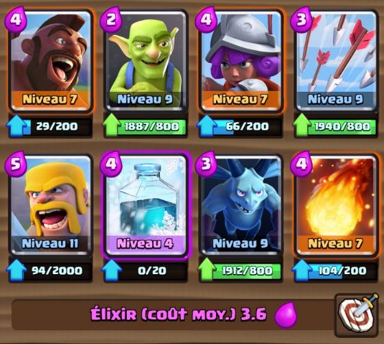 Deck m ta ar ne 4 cochon gel astuces et guide clash for Deck arc x arene 7