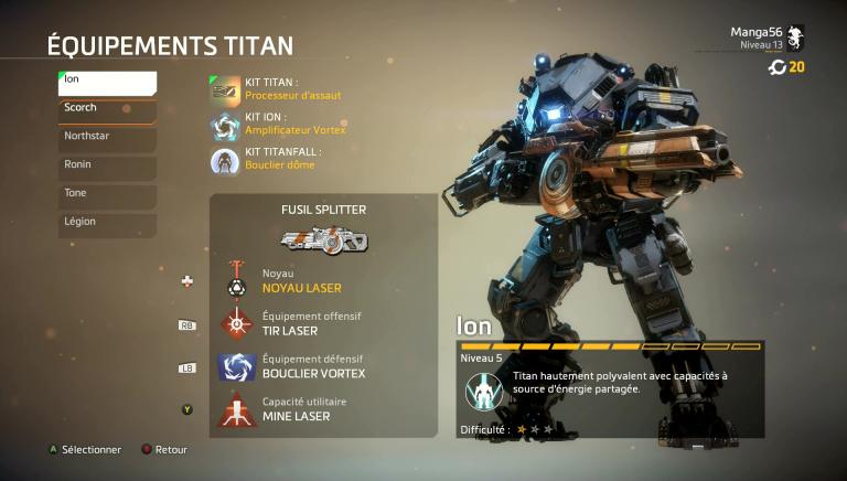 Maîtriser le Titan Ion