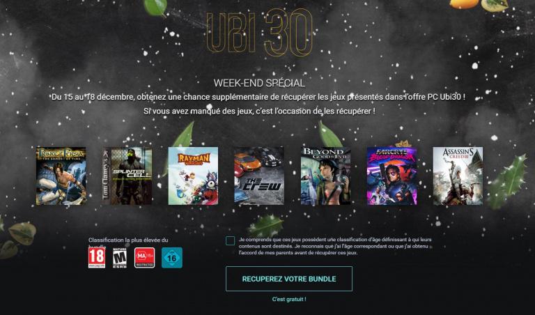 Ubisoft : 7 jeux gratuits pour fêter les 30 ans
