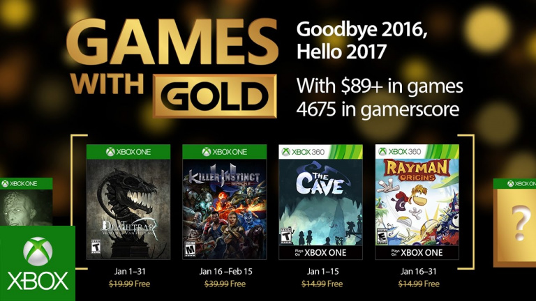 Xbox Live Gold : découvrez les jeux gratuits du mois de janvier 2017