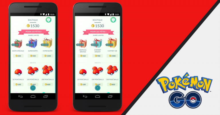 Pokémon GO propose des boîtes pour les fêtes