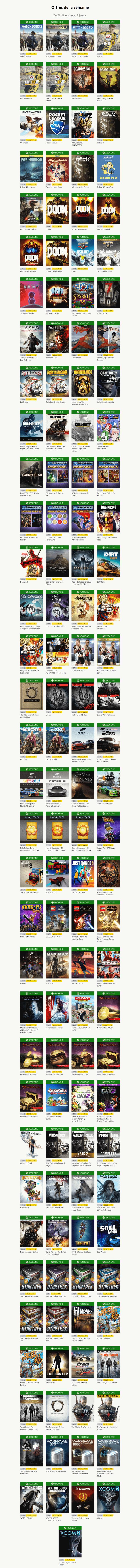 Marché Xbox Live: les soldes de fin d'année 2016 - deuxième partie