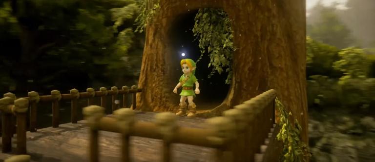 Zelda Ocarina of Time : La Forêt Kokiri et l'Arbre Mojo recréés sous Unreal Engine 4