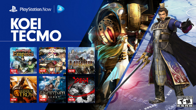 PlayStation Now : 12 jeux du catalogue de Koei Tecmo s'ajoutent à la liste