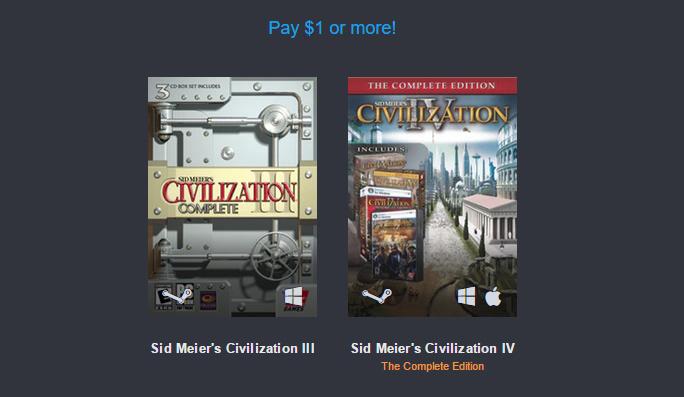 La série Civilization à l'heure du Bundle