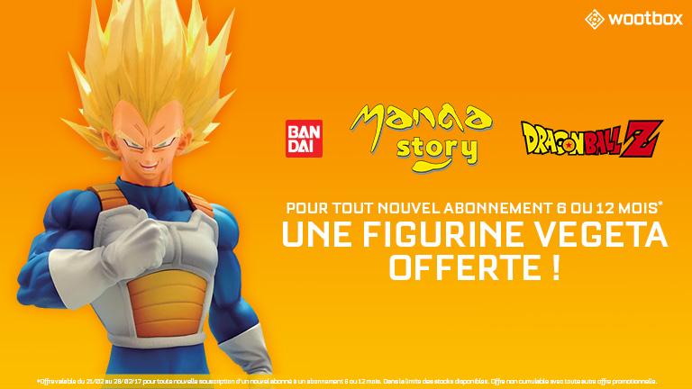 Une figurine Vegeta Super Saiyan pour tout nouvel abonnement de 6 ou 12 mois à la Wootbox !