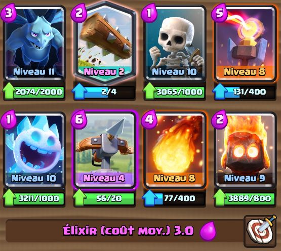 Deck rotation arc x ar ne 8 et astuces et guide for Clash royale deck arc x