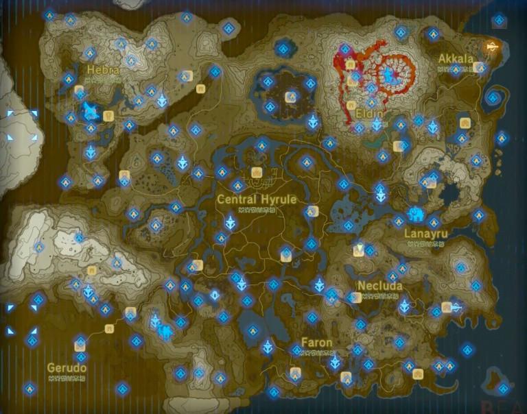 carte sanctuaire zelda breath Sanctuaires : carte, emplacements, soluce des énigmes   Soluce The
